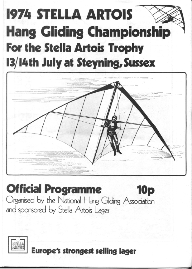 Programme for the 1974 Stella Artois competition