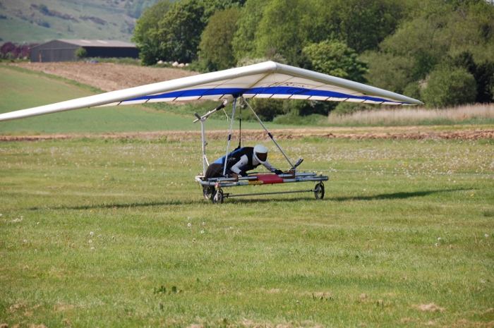 Glider ready to launch