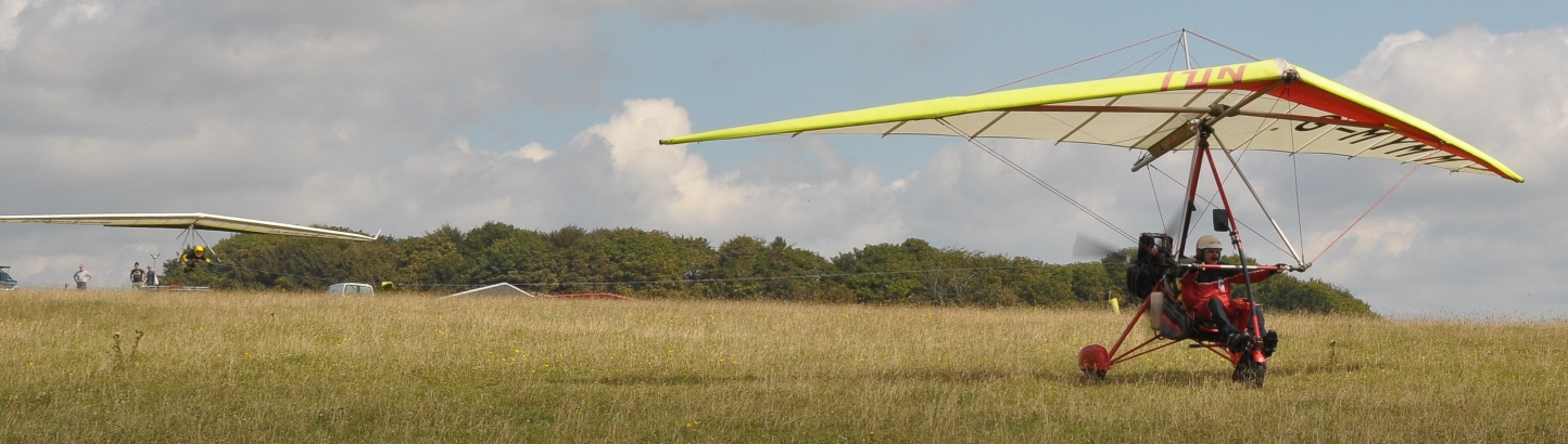 Glider being towed